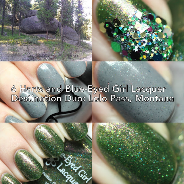 6 Harts and Blue-Eyed Girl Lacquer Destination Duo: Lolo Pass, Montana