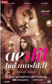 Ae Dil Hai Mushkil 2016 Hindi Movie HEVC 200MB
