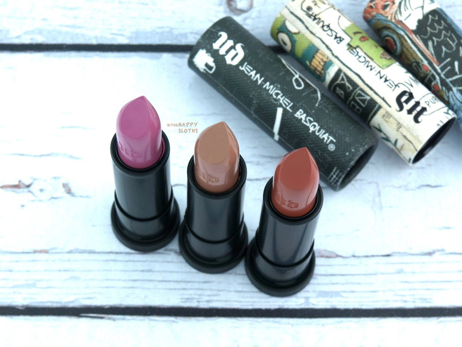 Urban Decay x Basquiat Lipstick: Review and Swatches
