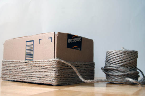 caixa reciclada, reciclar caixas, caixa supermercado, caixa organizadora