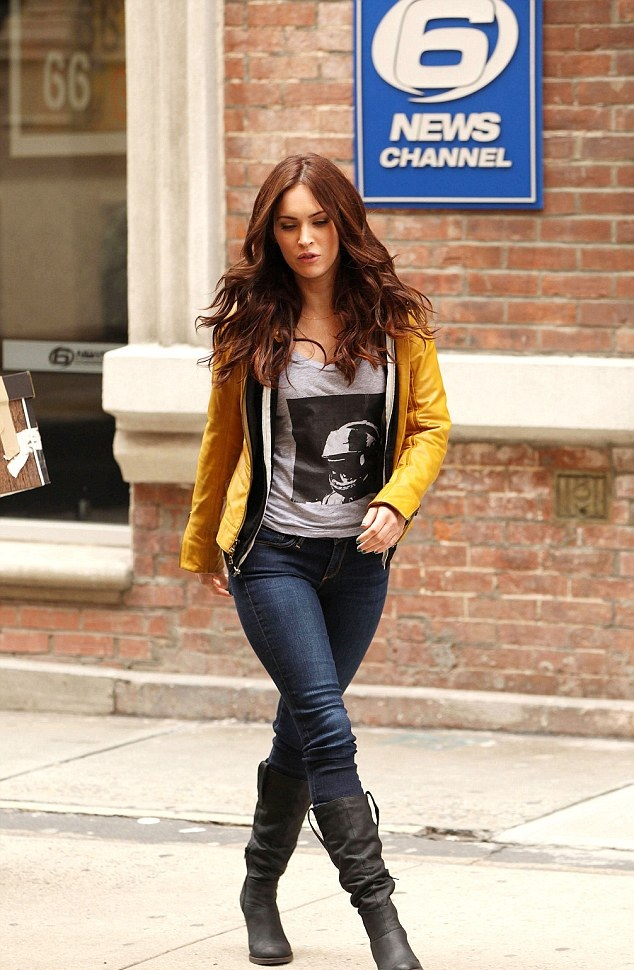 Megan Fox leather celebrityleatherfashions.filminspector.com