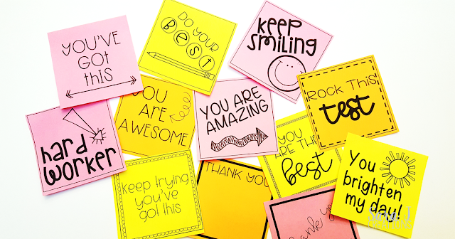 Variety of printed teacher sticky notes
