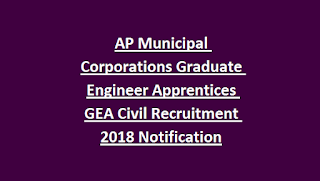 AP Municipal Corporations Graduate Engineer Apprentices GEA Civil Recruitment 2018 Notification