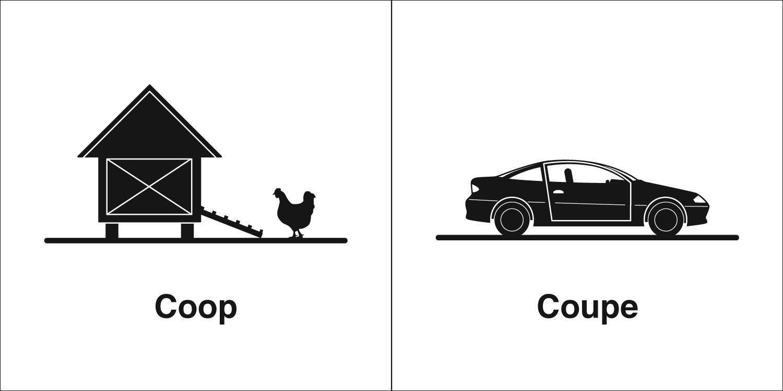 Homophones, Weakly: Coop & Coupe