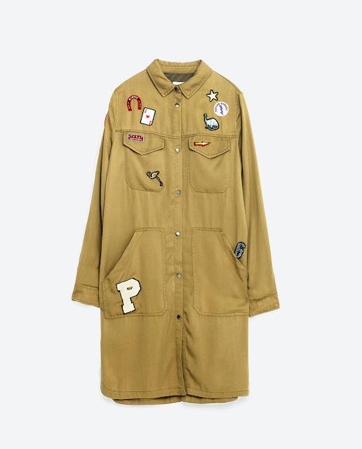 Zara patch overshirt