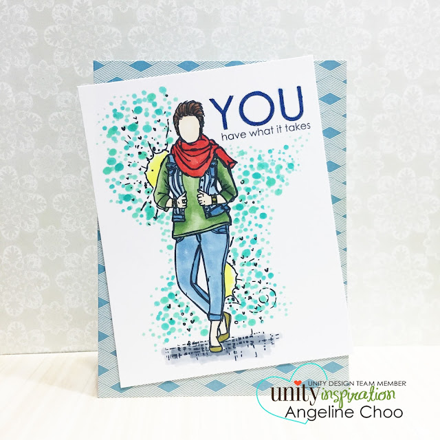 ScrappyScrappy: Unity BIG Blog Hop + New Videos #scrappyscrappy #stamp #stamping #card #unitystampco #copic #coloring #angiegirl