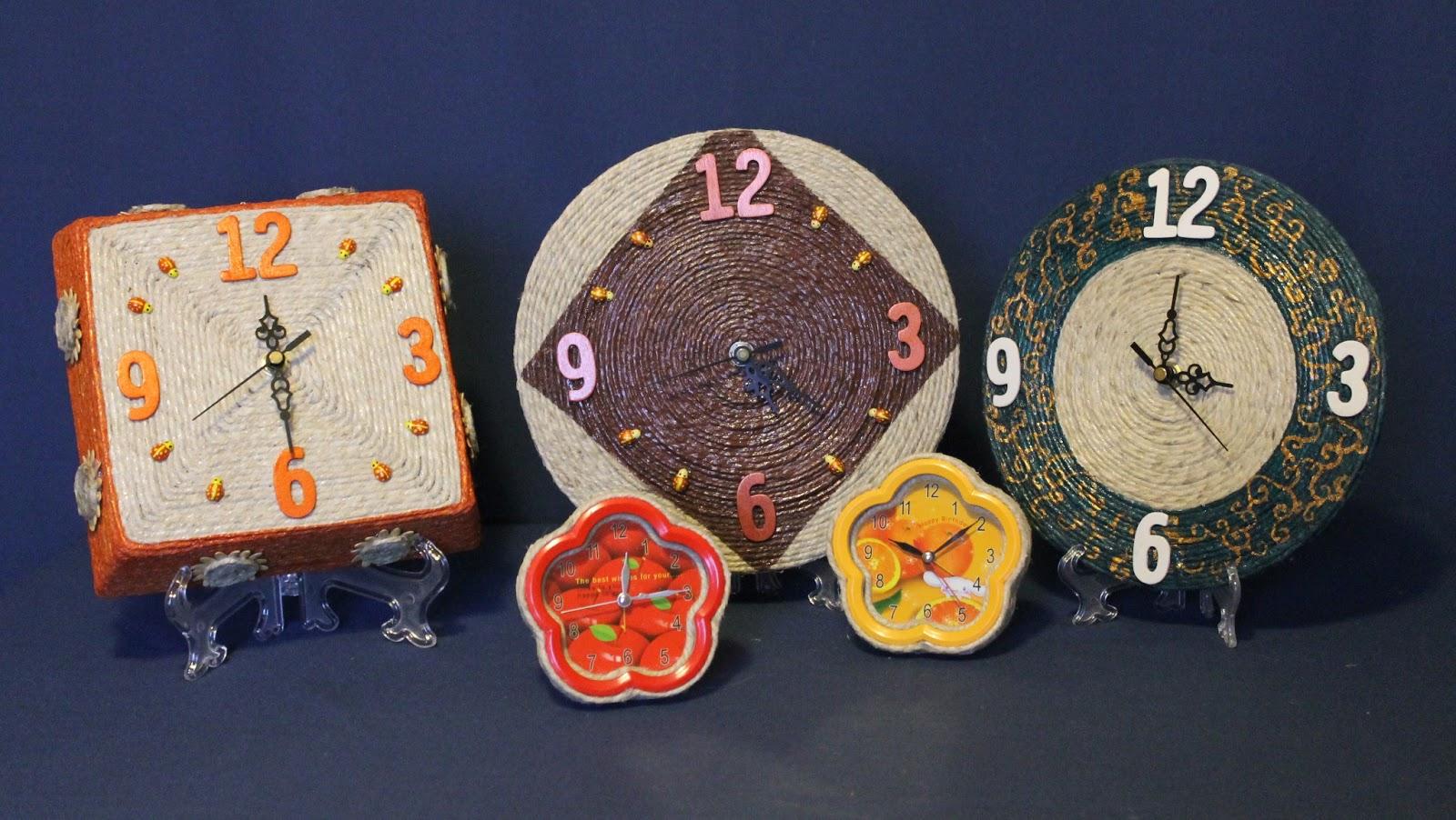 Mille idee in spago orologi da parete e d 39 appoggio for Idee per orologio da parete
