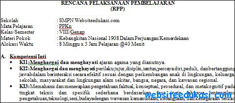 RPP PKn Kelas 8 Semester 2 Kurikulum 2013 Revisi Terbaru