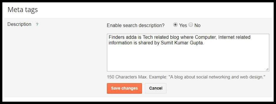 Write your blog description