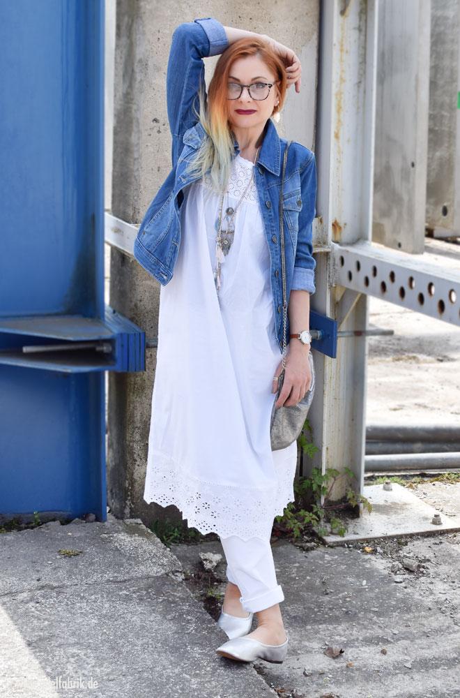 So trage ich ein Kleid über eine Hose, Tchibo Mode