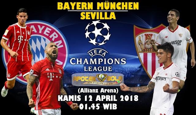 Prediksi Bayern Munchen vs Sevilla 12 April 2018