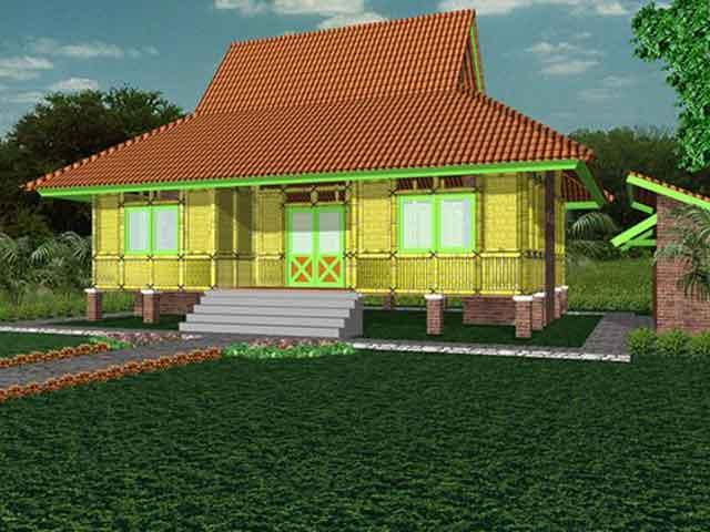 Contoh Gambar Rumah Antik Konstruksi Bambu  Blog Interior Rumah Minimalis