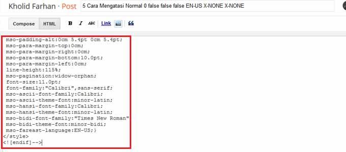 Menghapus tag dari bahasa ms. word