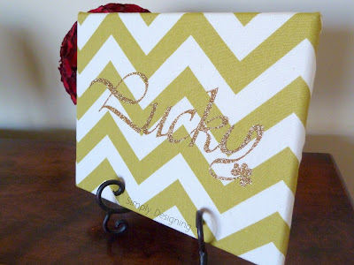 DIY Chevron Lucky St. Patrick's Day Sign