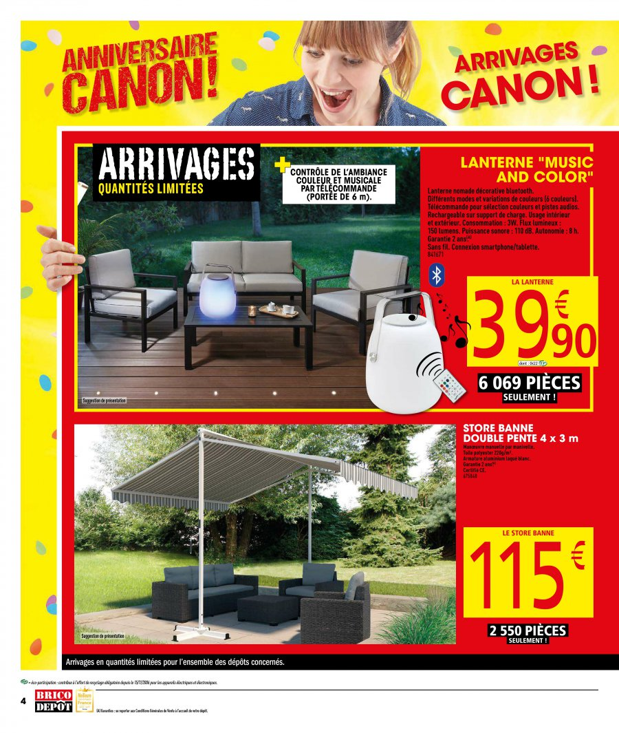 latest catalogue brico dpt avril au mai with store double pente brico depot with store bandes. Black Bedroom Furniture Sets. Home Design Ideas
