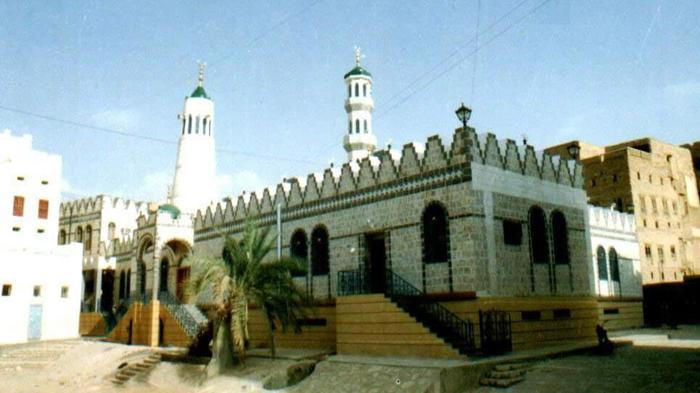 Masjid Al-Fath peninggalan Imam Haddad di al-Hawi, Tarim, Hadramaut, Yaman