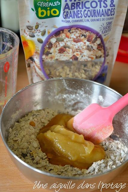 cookies céréales graines compote de pomme