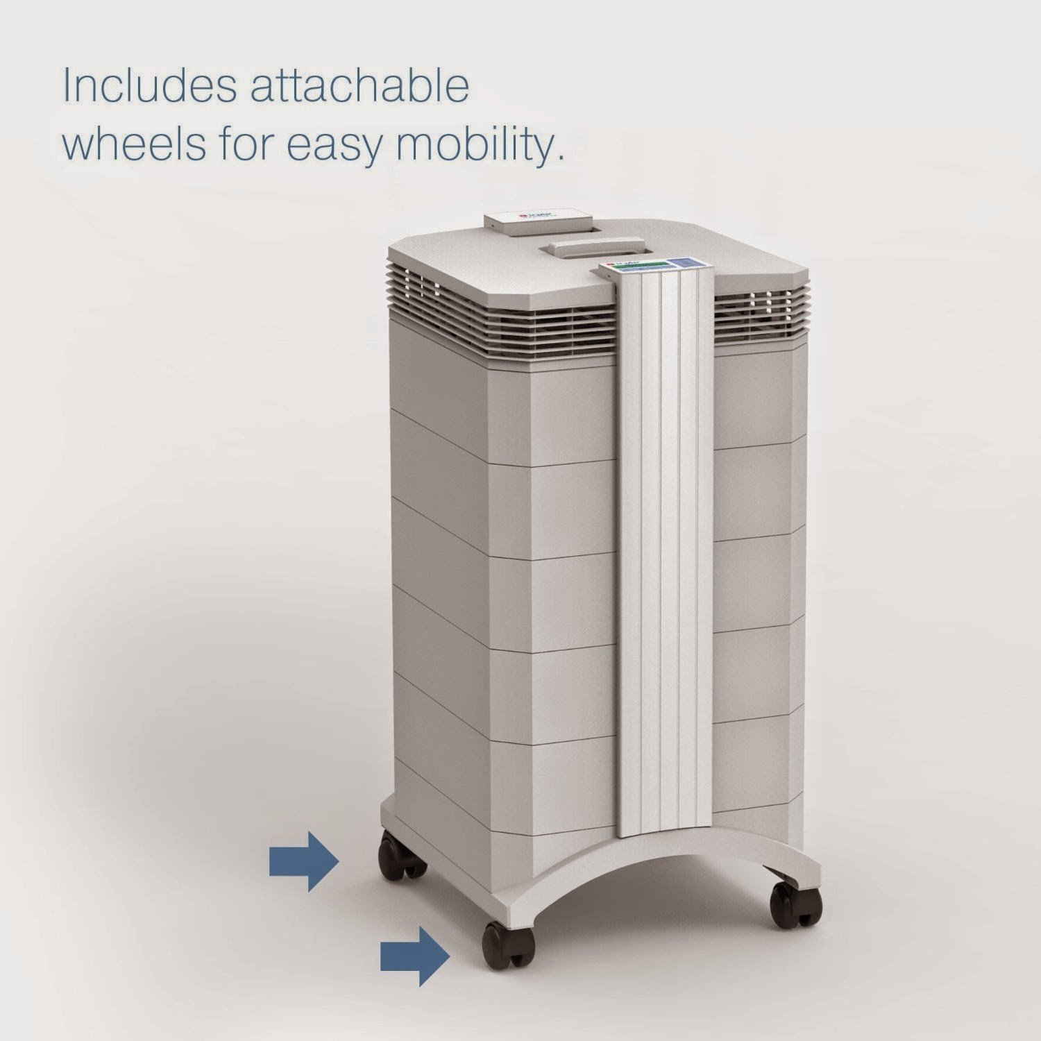 IQ HealthPro Plus Air Purifier with wheels for easy maneuverability, picture, image, review features and specifications