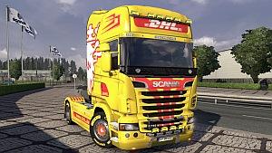 DHL Scania R skin mod