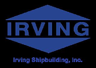 Irving Shipbuilding Logo Vector