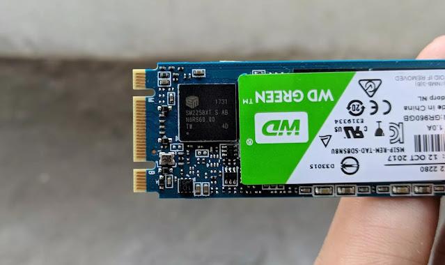 Review SSD WD Green vs VGEN Turbo M.2 Sata