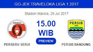 Perseru Serui vs Persib Bandung Liga 1 29/7/2017