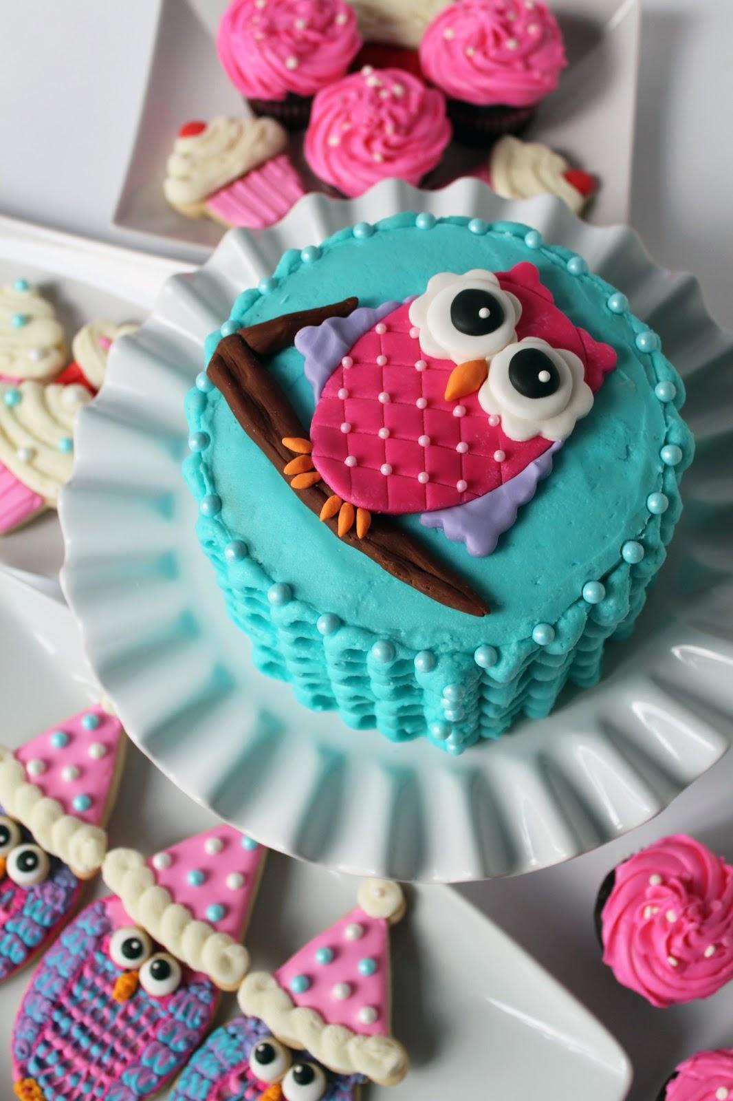 Worth Pinning Owl Smash Cake For 1st Birthday