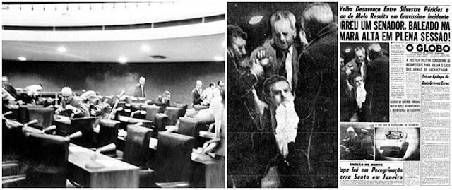 Morte no senado e o primeiro senador preso em exercício, 1963.