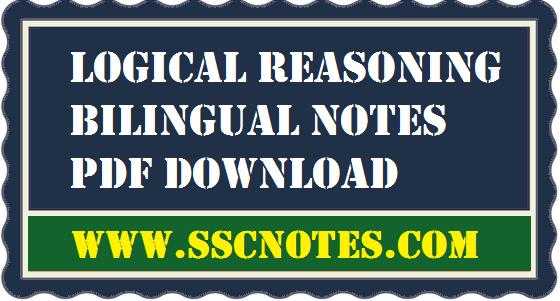 Logical Reasoning Bilingual Notes PDF Download
