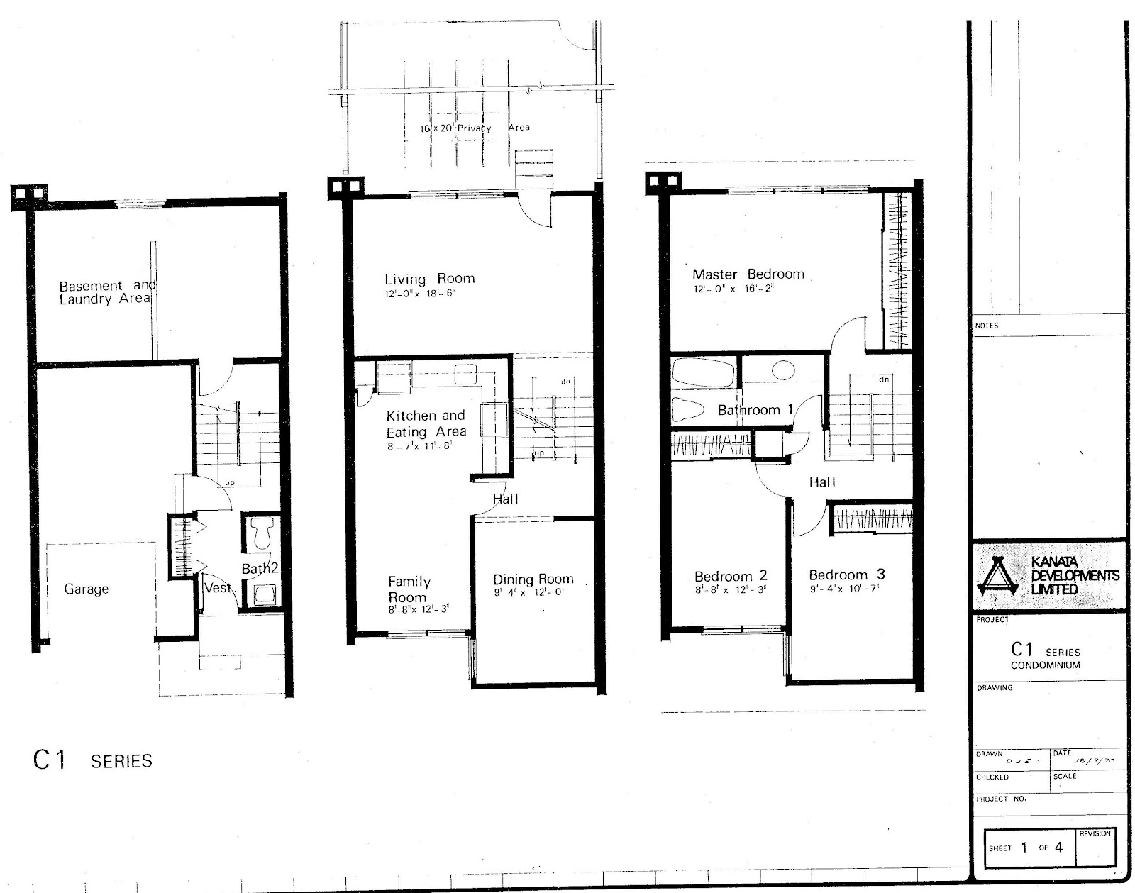 Simple 3 Story Townhome Plans Placement