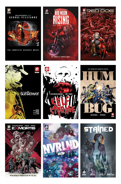 "Nine graphic novels, created by top Hollywood writers of ""The Deuce"", ""X-Men First Class"", ""The Fast and Furious"" and other blockbusters, at this year's New York Comic Con."