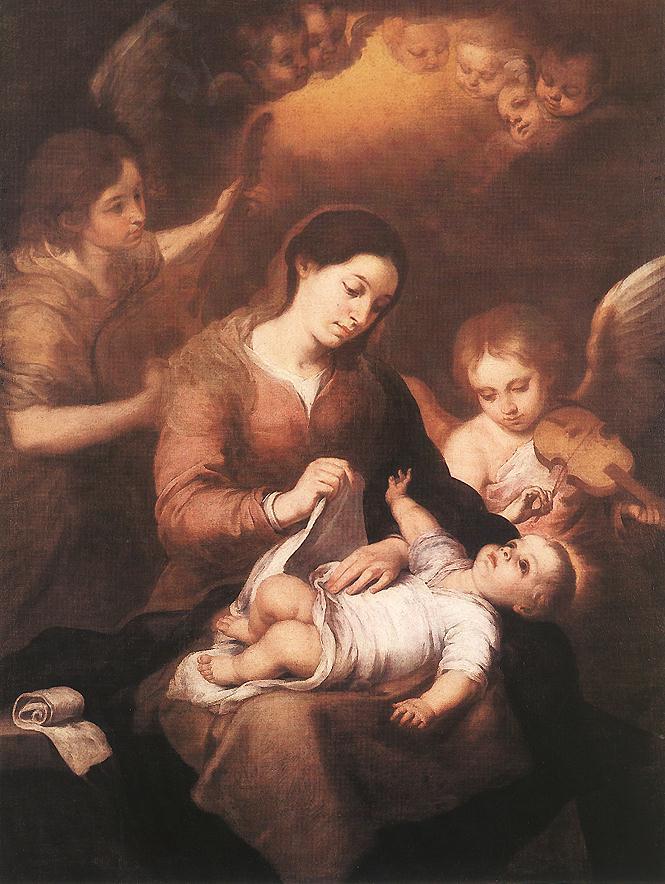 Painting Of Bartolome Esteban Murillo (1617-1682) Artist