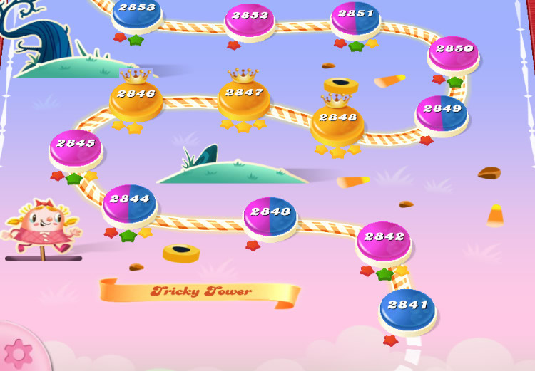 Candy Crush Saga level 2841-2855