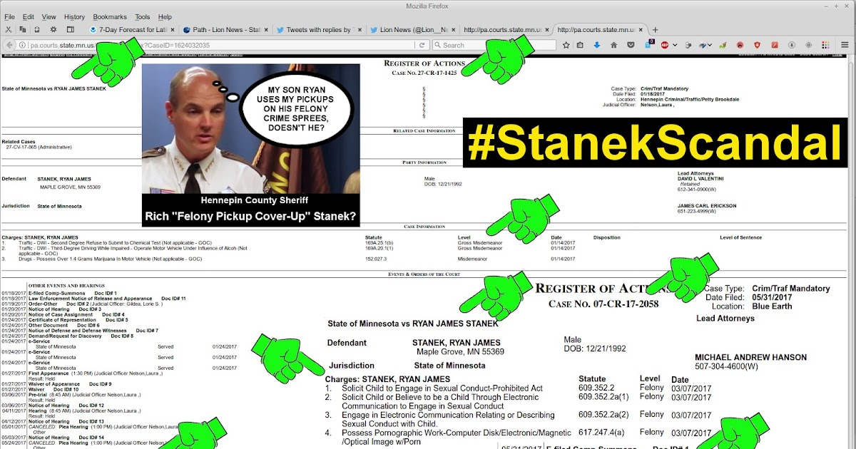 Lion News Update Stanekscandal - Will Hennepin Co -8770