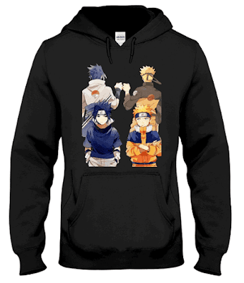 Naruto and Sasuke Best Friend Hoodie Sweatshirt Jacket Sweater