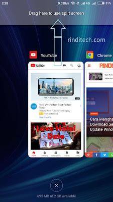 Berikut adalah cara agar kita dapat menggunakan fitur split screen di smartphone Xiaomi d Cara Menggunakan Split Screen di Smartphone Xiaomi MIUI 8/9