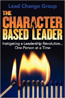 """""""The Character-Based Leader"""" book cover (One match lighting a series of matches on fire)"""