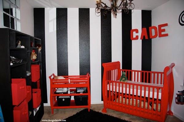 Adorale Chambre bébé rouge