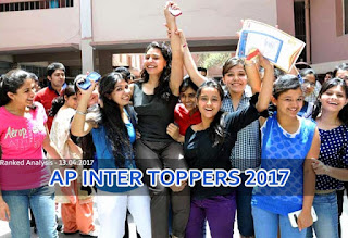 AP Inter Toppers 2017, AP Intermediate Toppers List 2017, AP Inter Ranks District wise