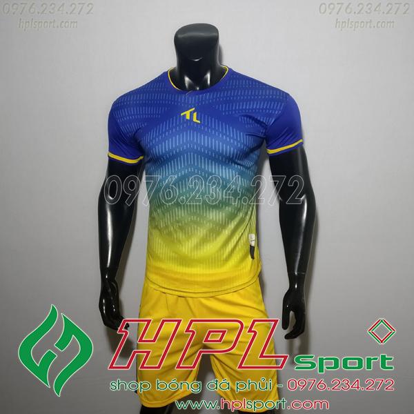 Áo bóng đá không logo TL HML Rius Màu Xanh Đậm