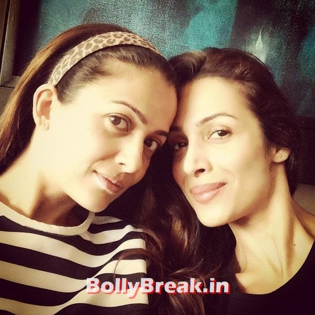 Malaika Arora Khan at home without makeup with sister, Real Life Pics of Malaika Arora - Home, Beach, Bikini, Friends, Family & Modelling Days