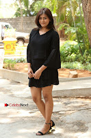 Actress Hebah Patel Stills in Black Mini Dress at Angel Movie Teaser Launch  0021.JPG