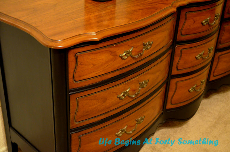 Life Begins At Forty Something Two Tone French Dresser