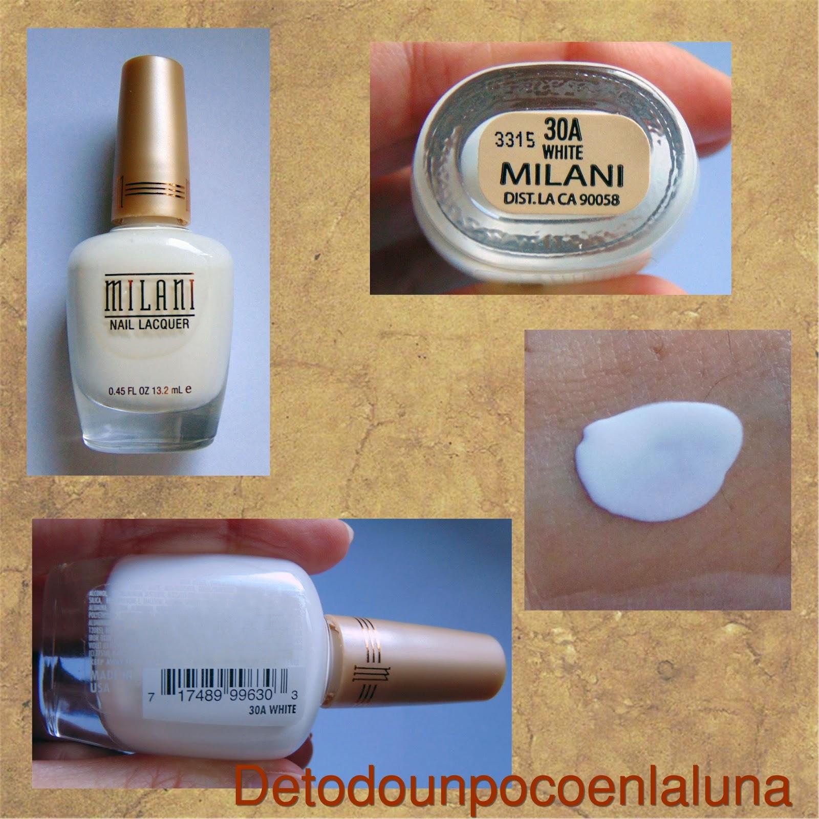esmalte de uñas blanco milani