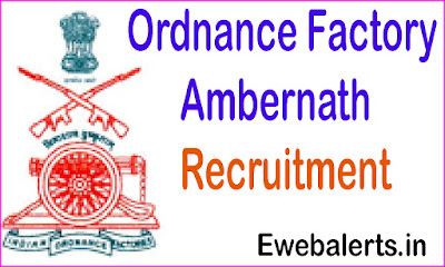 www.ofb.gov.in Ambernath Recruitment
