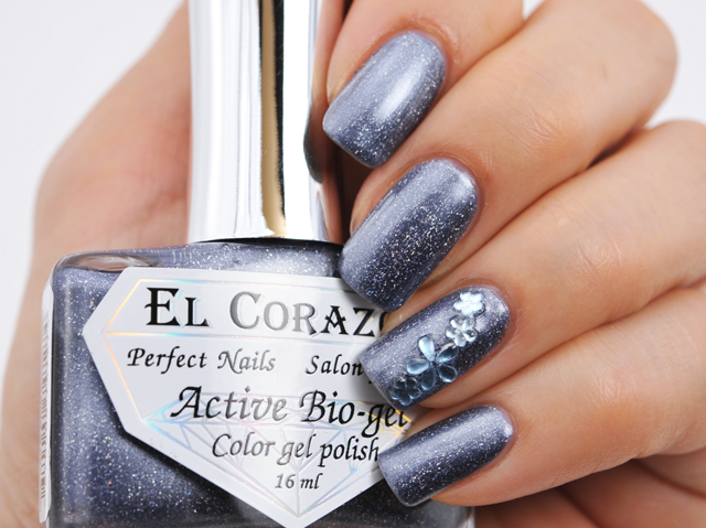El Corazon: Active Bio Gel Polish Gemstones Soda lite No. 423/454