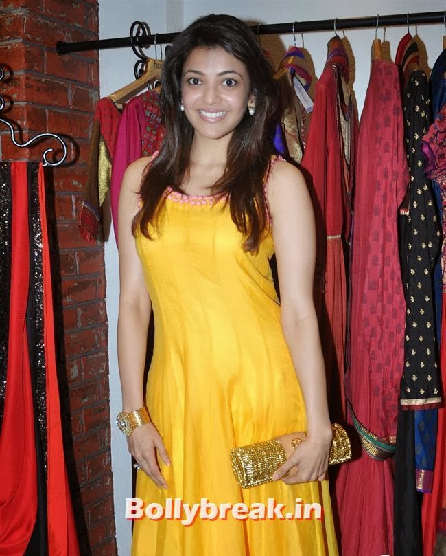 Kajal Agarwal, Mandira Bedi & Kajal Aggarwal at HUE Store Launch