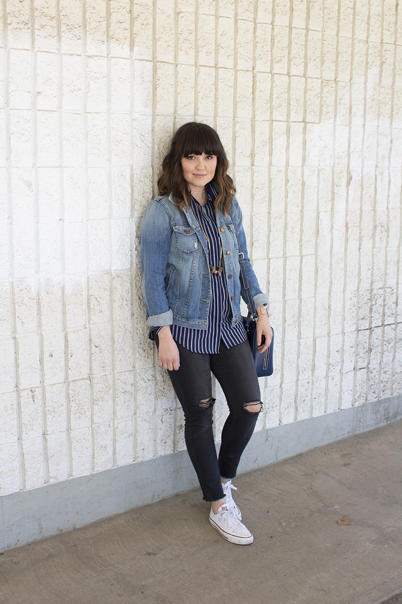 How to style a jean jacket for spring