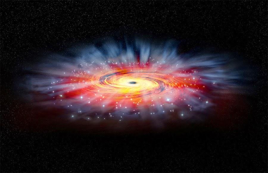buraco negro brilhante colorido