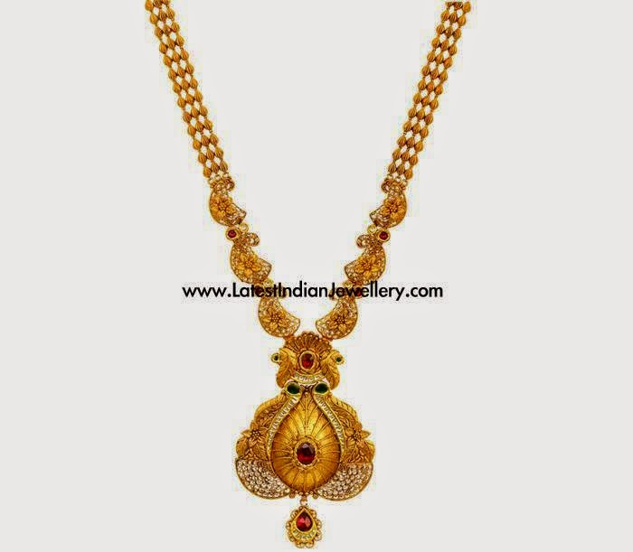 Latest Antique Gold Haram Design